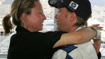 Nick Heidfeld and wife Patricia Papen