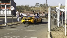 McLaren MP4-12C Suddenly appears.