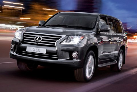 Lexus LX570 gets a fresh face for 2012