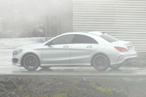 Mercedes' A-Class saloon spotted uncovered