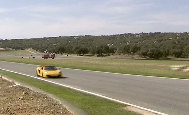 McLaren Mp4-12C Spider on Ascari Racetrack