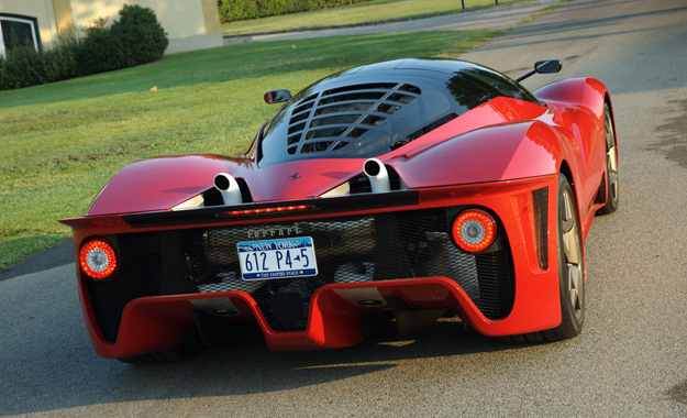 The F70 appears to draw some cues from the rear end of the one-off Pininfarina Ferrari P4-5
