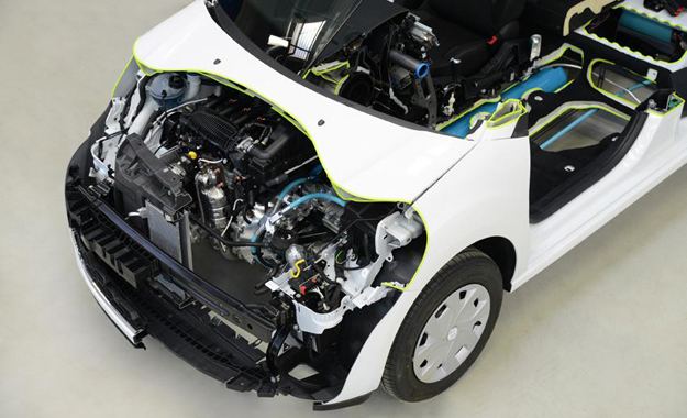 Peugeot claims that this system could achieve 2,9 L/100 km and emissions of just 69 g/km in a B-segment car