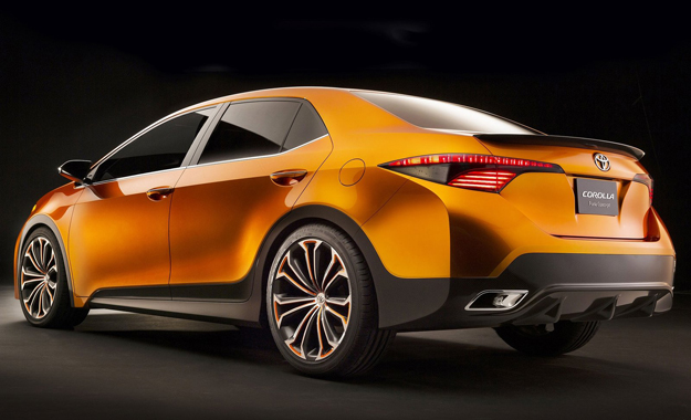 The Corolla Furia's rear features an aggressively styled two-tone bumper