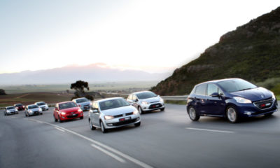 FROM LEFT: Kia Rio, Toyota Yaris, Fiat Punto, Honda Jazz, Hyundai i20, Chevrolet Sonic, VW Polo, Ford Fiesta and Peugeot 208.