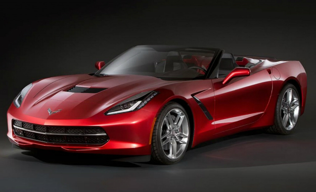 This rendering shows how the production Chevrolet Corvette Stingray Convertible could look