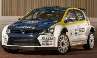 The VW Sasol rally team's new Polo S2000, ready to take on the 2013 season.