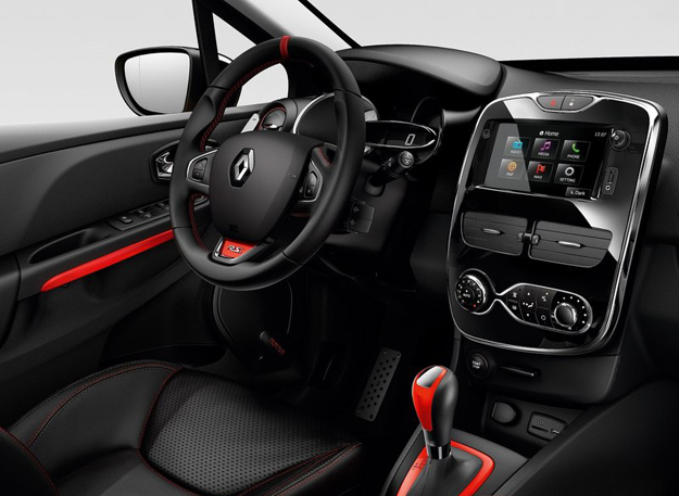 Infotainment system also displays such performance data as drive model, wheel spin, G-force and stop watch
