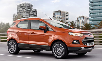 Ford EcoSport SUV in motion