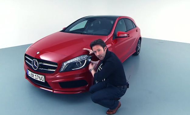 Mark Fetherston, exterior designer at Mercedes-Benz, explains the design of the new A-Class