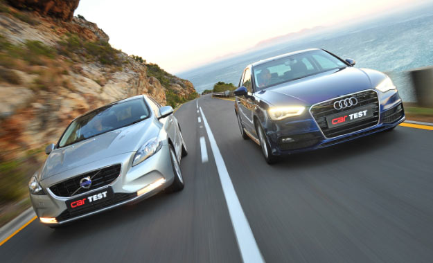 Audi A3 1,8T FSI SE S tronic and Volvo V40 T4 Excel
