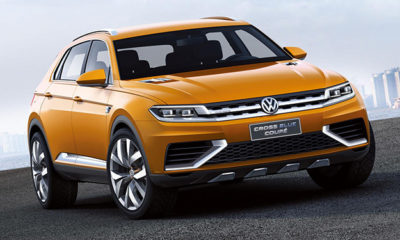 Images of the Volkswagen CrossBlue Coupe concept have emerged on the 'net ahead of its Shanghai Motor Show reveal