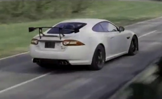 Jaguar XKR-S GT attacks the track