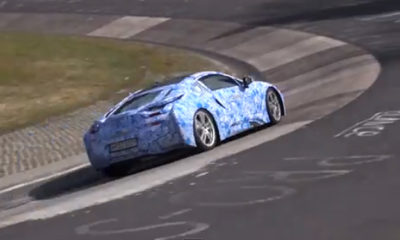 The BMW i8 has been captured testing on the Nürburgring