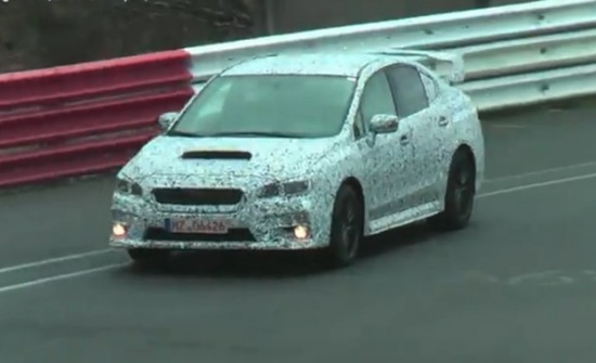 The 2014 Subaru WRX STI has been spotted testing at the Nürburgring