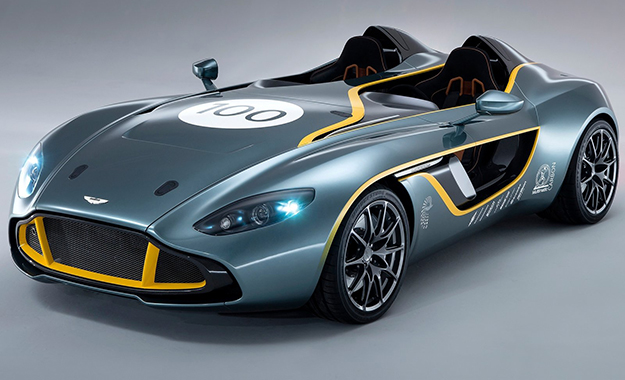 Despite drawing inspiration from the 1959 Le Mans-winning DBR1 racecar, the CC100 showcases a number of future styling and material developments