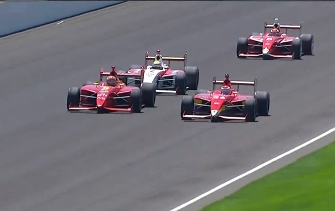 Indy Lights closest finish [video]