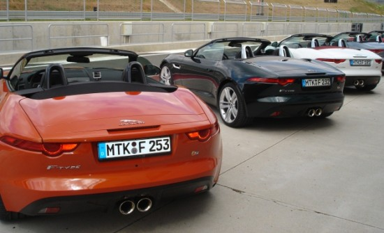 Jaguar F-TYPE S at Navarra race track