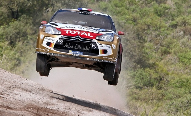 Sebastien Loeb catches some serious hang time