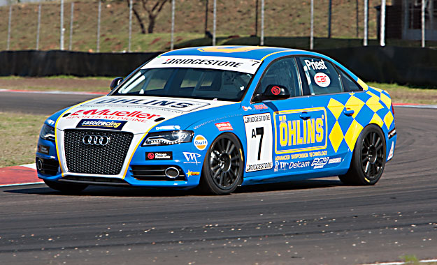 Melvill Priest...is a win on the cards for the Audi S4 driver