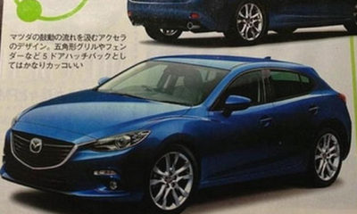 Images of what is believed to be the new Mazda3 have surfaced in a Japanese motoring magazine