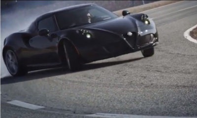 The Alfa Romeo 4C attacks the firm's Balocco test track