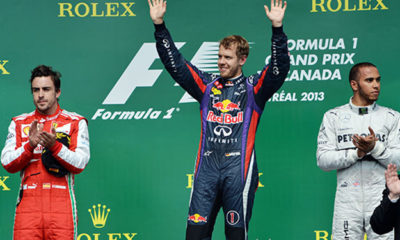 Sebastian Vettel netted his first ever Canadian GP win