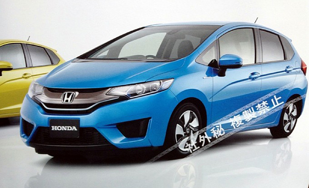 Images of the 2014 Honda Jazz have been leaked via a scanned brochure