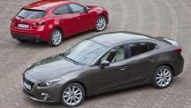 The 2014 Mazda3 saloon is likely to share its engine line-up with its hatchback stable mate