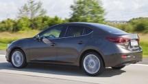 Adding the boot does little to dilute the visual appeal of the 2014 Mazda3 saloon
