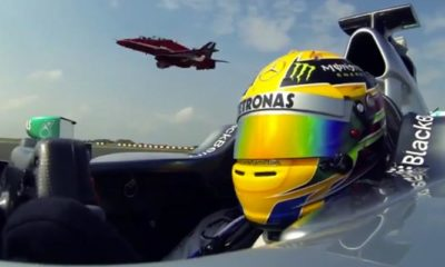 Lewis Hamilton Spends The Day With The RAF Red Arrows [video]