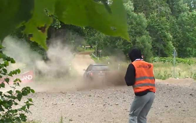 Rally Marshal Takes A Shot To The Groin [video]