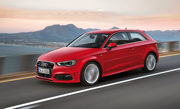 Audi A3 front three-quarter photo