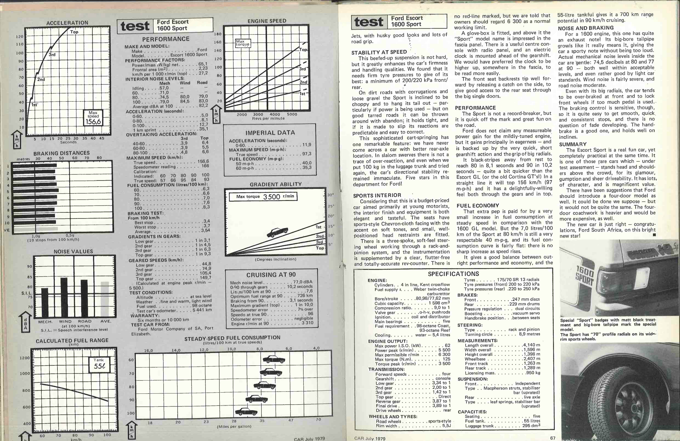 From The Archives Ford Escort 1600 Sport Car Magazine 40 V6 Engine Diagram