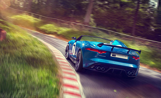 Jaguar Project 7 concept rear three-quarter view