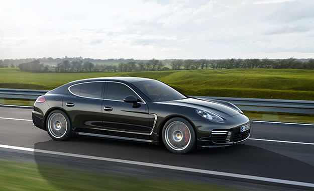 Porsche Panamera front three-quarter photo