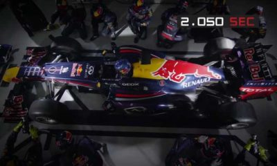 Enjoy A 2,05-Second F1 Pit Stop In Ultra Slow-Motion [video]