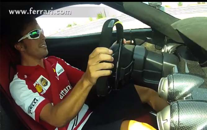 Alonso Drives LaFerrari In Anger! [video]