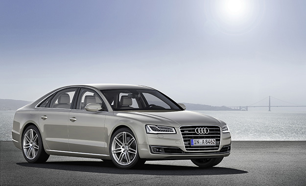 Audi A8 front three-quarter