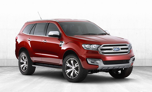 Ford Everest concept front three-quarter image