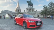 The A3 Saloon stretches its legs in Hungary's capital city