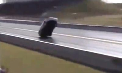 Drag Car tries to fly [video]