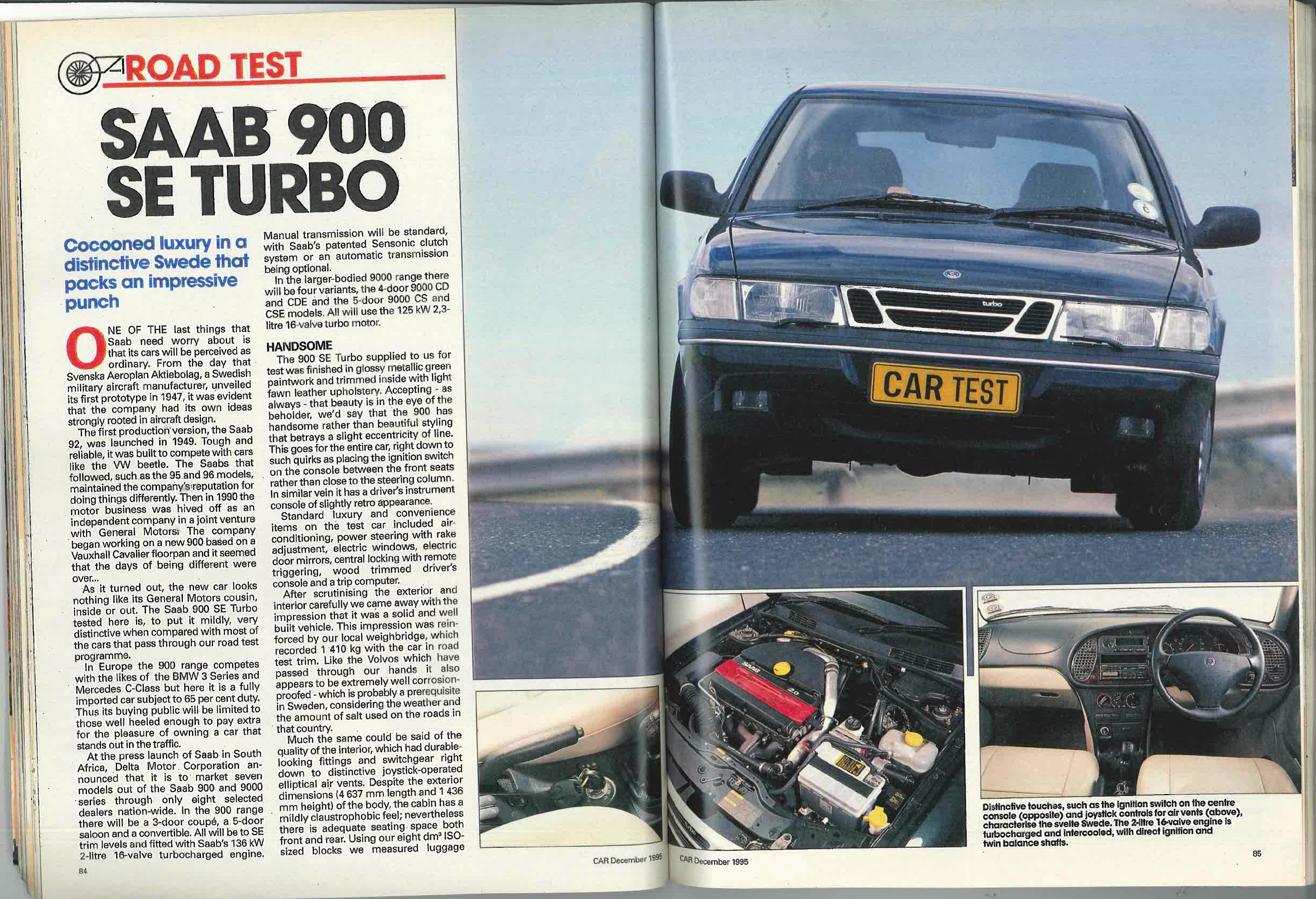 From The Archives Saab 900 Se Turbo Car Magazine Ignition Wiring Diagram