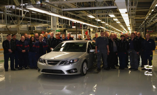 Saab production team