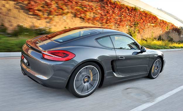 The design of the Cayman is derived from that of its Boxster sibling, but its rear three-quarter aspect is particularly distinctive.