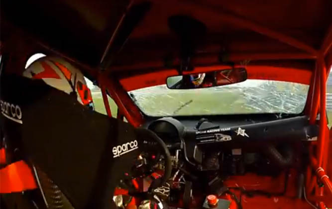 One Rather Large Supercar Challenge Accident! [video]