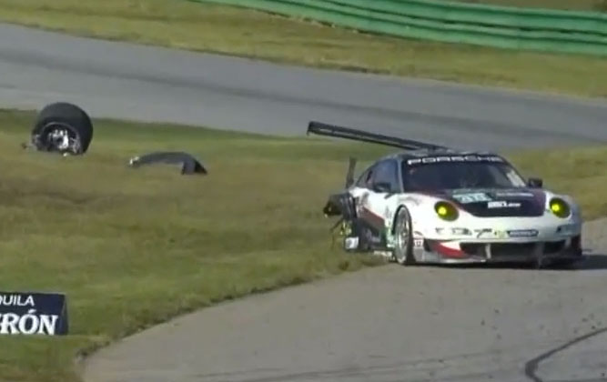 Massive Porsche ALMS Crash! [video]