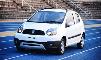 Geely LC Cross front three-quarter image