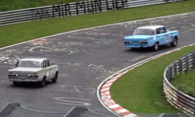 Merc Fintails at Nurburgring