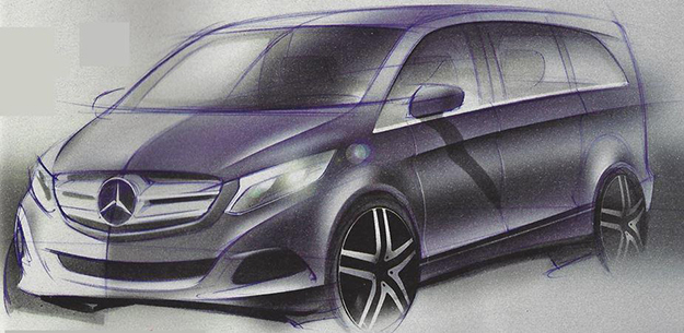 Unofficial sketch of the upcoming V-Class
